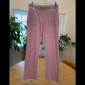 Pale pink velour pant washed but never worn